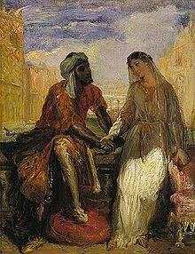 Interracial marriage, back when it was a novel concept (depiction of Othello)